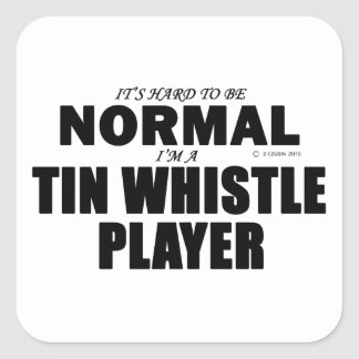 Normal Tin Whistle Player Square Sticker