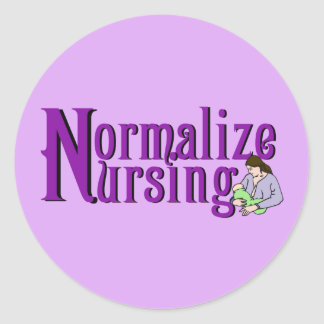Normalize Nursing Classic Round Sticker