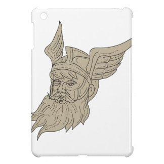 Norse God Odin Head Drawing Case For The iPad Mini
