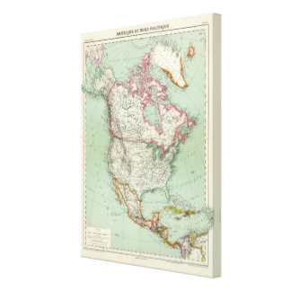 North America 10 Stretched Canvas Prints