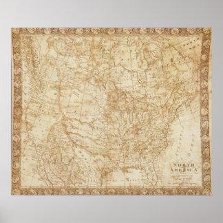 North America 1804 Poster