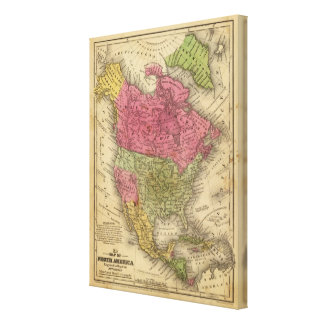 North America 18 Stretched Canvas Prints
