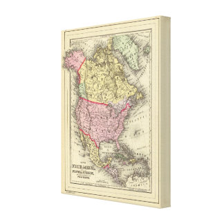 North America 26 Stretched Canvas Print