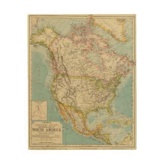 North America 34 Wood Canvases