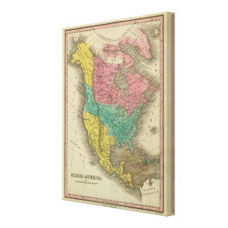 North America 4 Gallery Wrapped Canvas