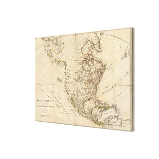 North America 6 Gallery Wrapped Canvas