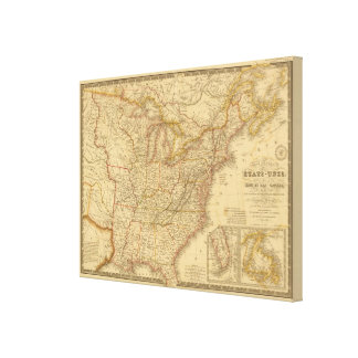 North America 7 Gallery Wrapped Canvas