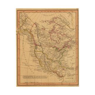 North America 9 Wood Print