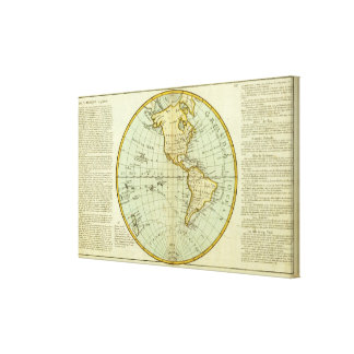 North America and South America Stretched Canvas Prints