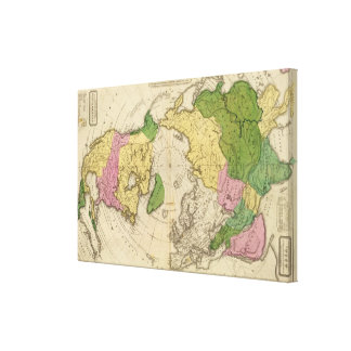North America, Asia Stretched Canvas Print