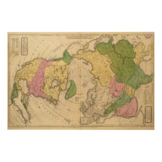 North America, Asia Wood Print