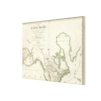 North America Atlas Map 2 Canvas Prints