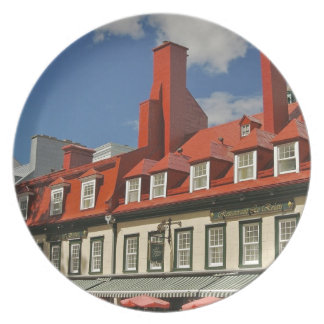 North America, Canada, Quebec, Old Quebec City. 3 Party Plates