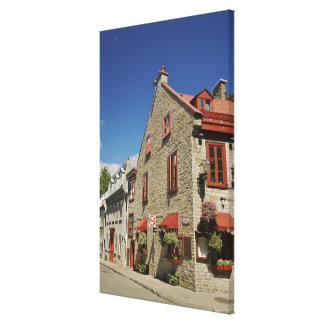 North America, Canada, Quebec, Old Quebec City. Canvas Print