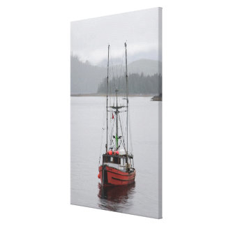 North America, Canada, Queen Charlotte Islands, Stretched Canvas Print