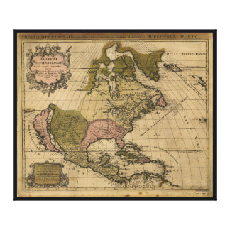 North America Map by Alexis Jaillot (1694) Canvas Print