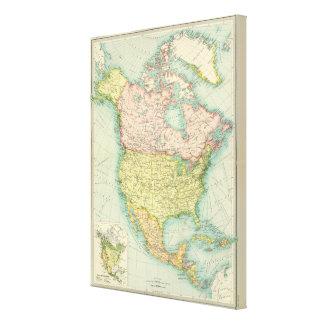 North America political Gallery Wrap Canvas