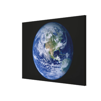 North America Seen from Space 2 Stretched Canvas Print