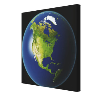 North America Seen from Space Stretched Canvas Print