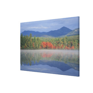 North America, US, NH, Fall reflections in Canvas Print