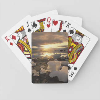 North America, USA, Alaska, Ice Bay, Icescape, Playing Cards
