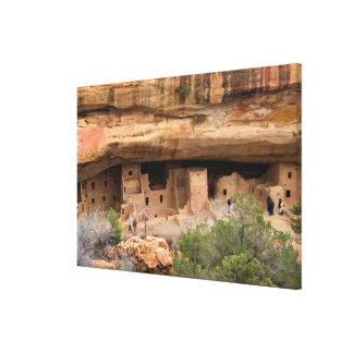 North America, USA, Colorado. Cliff dwellings Canvas Print
