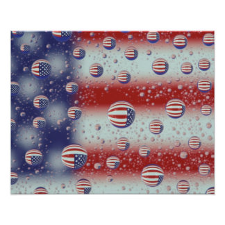 North America, USA, WA, Redmond, U.S. Flag Posters