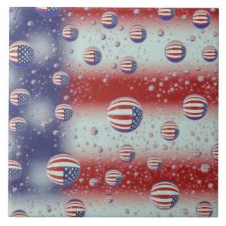 North America, USA, WA, Redmond, U.S. Flag Tile
