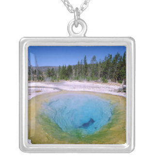 North America, USA, Wyoming, Yellowstone 2 Silver Plated Necklace