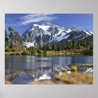 North America, Washington, Cascades. Mt. Shuksan Poster