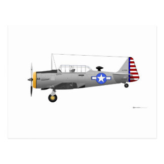 North American AT-6D Texan 17884 Postcard