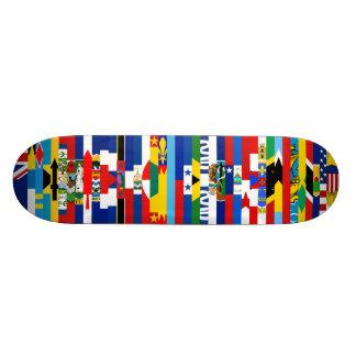 North American Flags Skateboard
