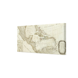 North America's new map Stretched Canvas Print