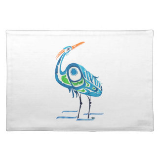 North By Northwest Blue Crane Cloth Placemat
