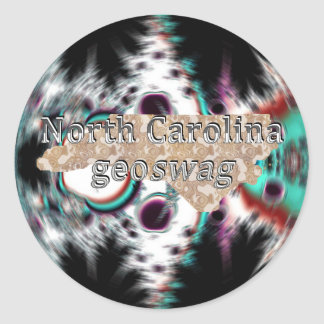 North Carolina Geocaching Supplies Sticker Geoswag