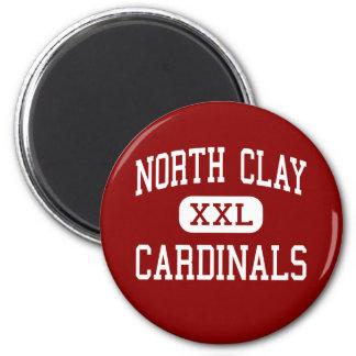 North Clay - Cardinals - Community - Louisville 6 Cm Round Magnet