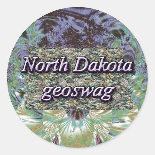 North Dakota Geocaching Supplies Stickers Geoswag