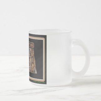 North Dakota Rig Up Camo Frosted Glass Coffee Mug