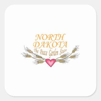 North Dakota The Peace Graden State Square Sticker