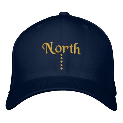North Embroidered Baseball Caps