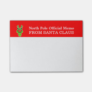 North pole memo from Santa Post-it Notes