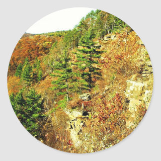 North Rim view Pa Grand Canyon by ArtRave Classic Round Sticker