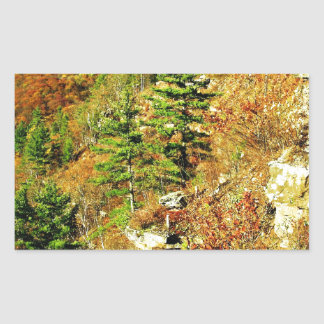 North Rim view Pa Grand Canyon by ArtRave Rectangular Sticker