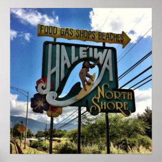 North Shore Oahu Hawaii Poster