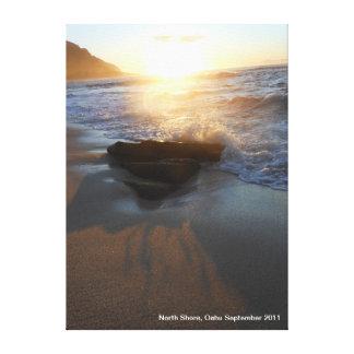 North Shore Sunset Seascape Canvas Print