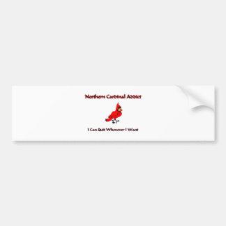 Northern Cardinal Addict Bumper Sticker