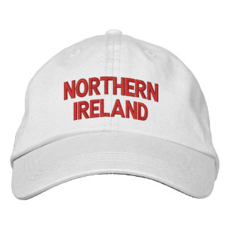 Northern Ireland Red on White Patriotic Cap Embroidered Hat