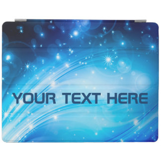 Northern Light Stars blue + your text & ideas iPad Cover