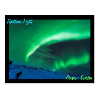 Northern Lights Over Abisko Sweden Postcard