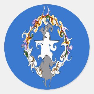 Northern Marianas Gnarly Flag Round Sticker
